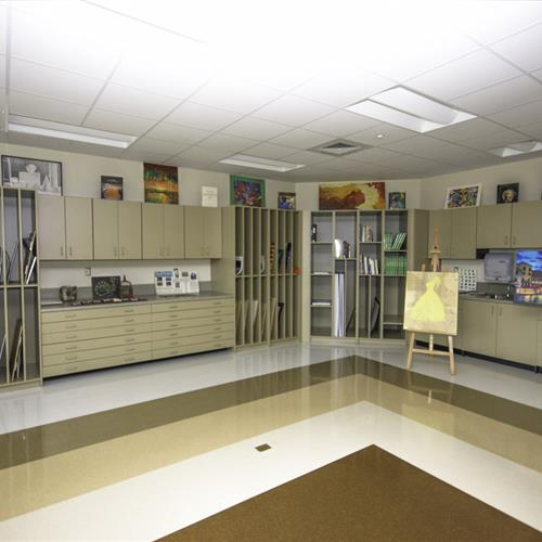 Art room on middle school campus