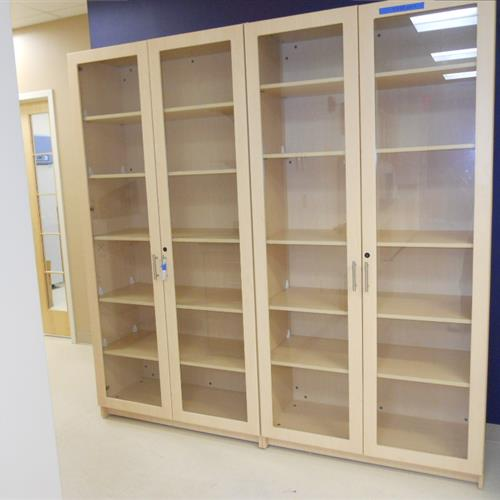 Modular Millwork Full Length Glass Frame Cabinets