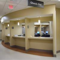 Modular Millwork Hospital Check-Out Desk