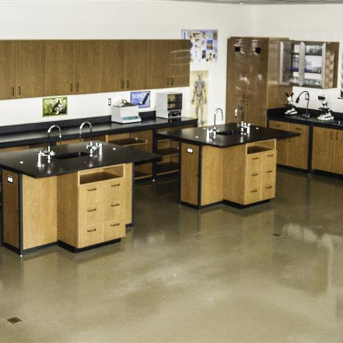 Modular Millwork Science Classroom