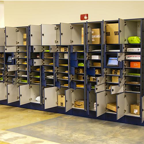 Automated Parcel Exchange Lockers for Mail Rooms