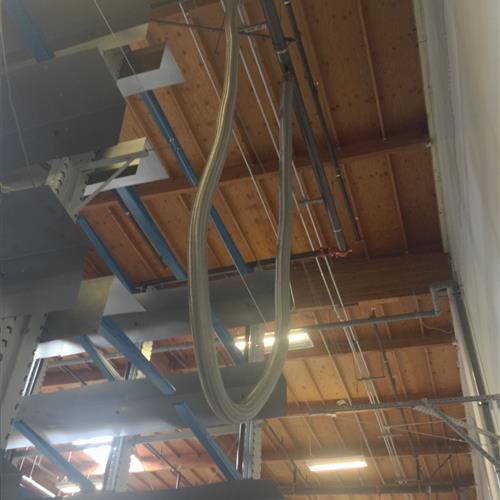 Industrial Mobile Storage With Integrated Sprinkler System, Ceiling View