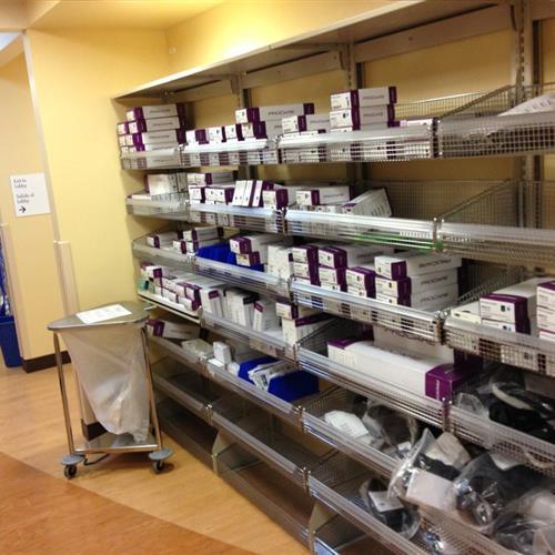 Kaiser Shelving for Hospital Supplies