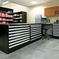 Rousseau Work Benches for Automotive Parts Storage