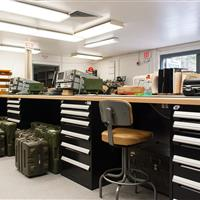National Guard Storage and Work Benches