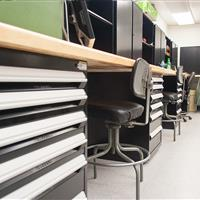 Work Benches and Modular Drawer Cabinets for National Guard Storage