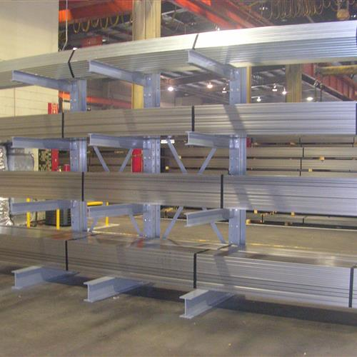 Cantilever Rack with Metal Part Storage Front Angle
