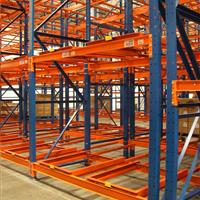 Push Back Rack Corner Angle Orange Racking