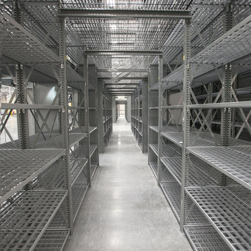 Catwalk Gray Shelving Aisle