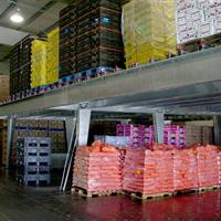 Industrial Mezzanine stocked with items