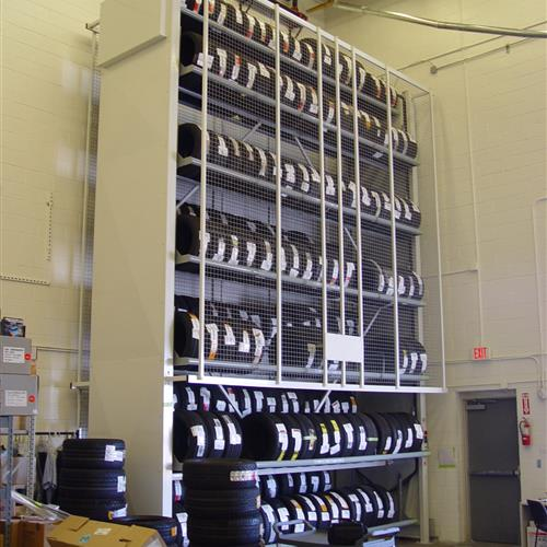 Tire Carousel with 6 levels of storage