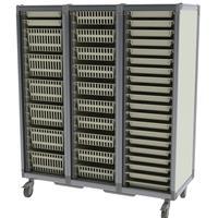 Modular storage cart for sterile storage, OR storage, materials storage