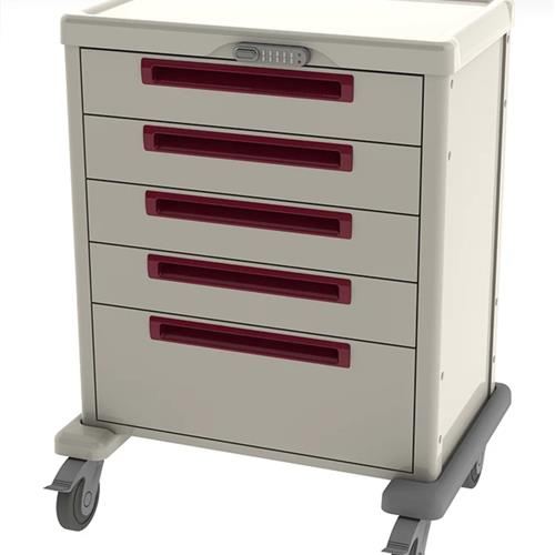 procedure cart with digital lock for security