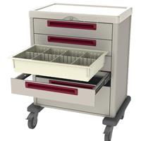 Procedure cart with removable drawers and key lock security