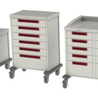 procedure carts come in various heights, lengths and depths