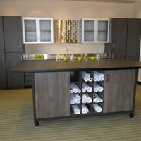 Modular Millwork with Plans in Center Moveable Table