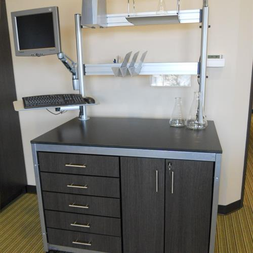Modular Millwork station on wheels