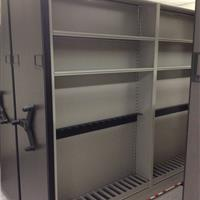 High Density Mobile Storage with shelving