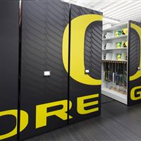 University of Oregon Softball Equipment storage