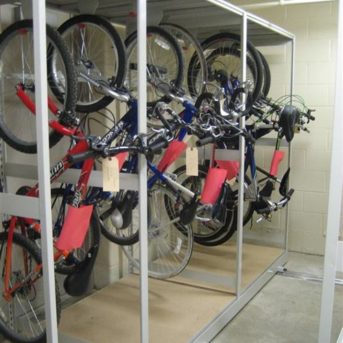 Bike Storage on Mobile System at Tinley Park Police Department