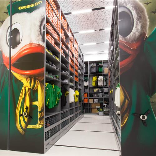 Athletic equipment storage - University of Oregon