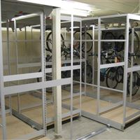 Moveable Storage for Bikes at the Tinley Park Police Department
