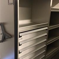 LA NBA team project mechanical assist for athletic clothing and equipment storage with drawers