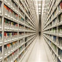 Off-site library shelving facility stores millions of volumes