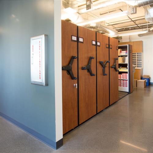 Office supply storage on mobile shelving.jpg