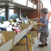Cantilever shelving allows easy access for children.jpg