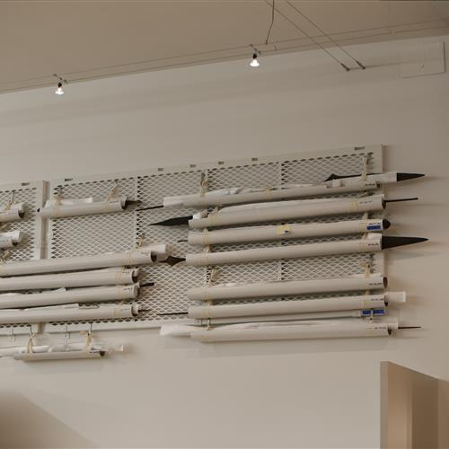 Artifact storage on perforated shelving allows air flow.JPG