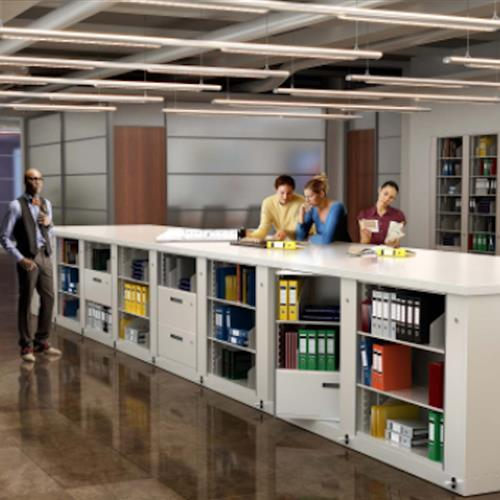 Stack Times-2 rotary units to create efficient workspace