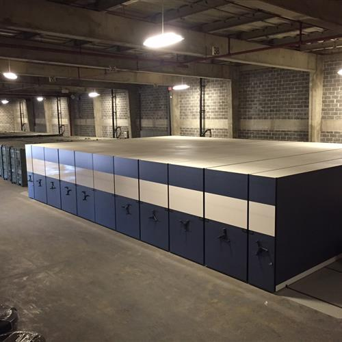 High Density Mobile system in military warehouse