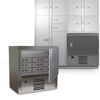 Half-height Refrigerated Evidence Locker Standalone with other Cabinets