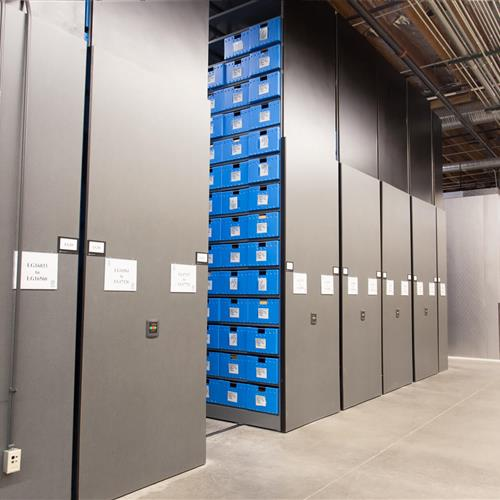 High Density shelving at Tucson Police Department