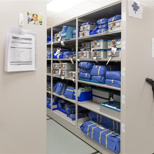 Sterile supply on mechanical assist