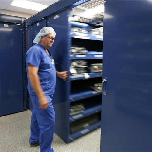 LevPRO mobile storage at Bryan Medical Center
