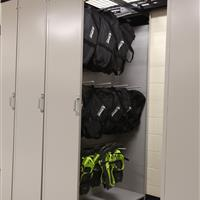 Snow shoe storage on LevPRO storage solutions