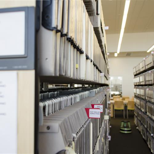 Library sheet music storage solutions