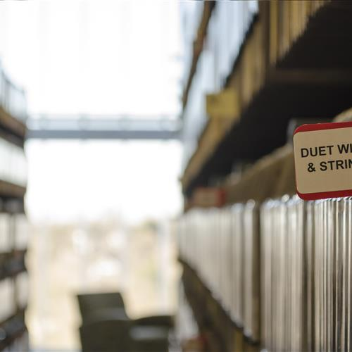 sheet music storage arts library