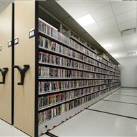 Music library storage on mechanical assist