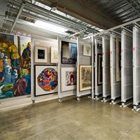 Wright State University art storage