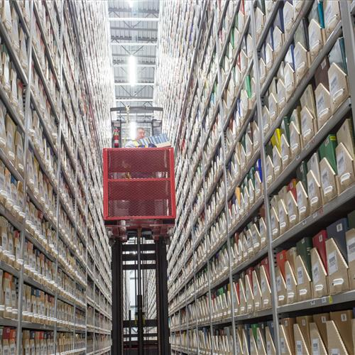 Off-site library shelving solutions