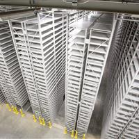 Static on-campus high density shelving system