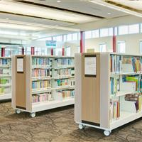 Various sections of Library carts
