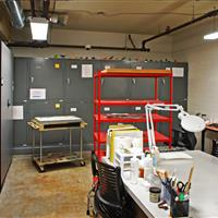 Raymond Alf Museum work room with High Density Mobile System