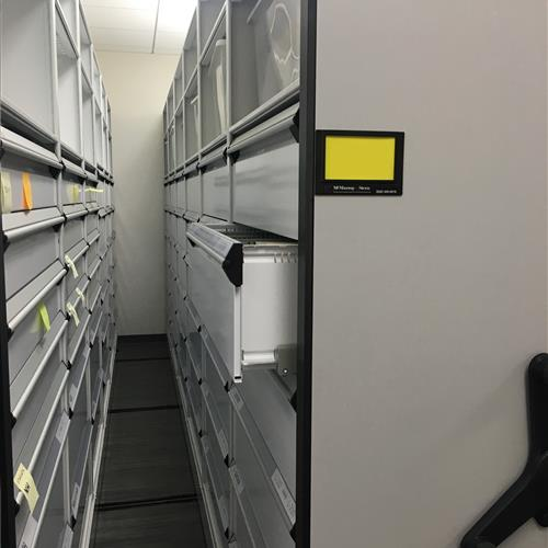 Open Customized Drawers on a High Density Mobile System an Automotive research and design center