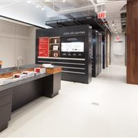 Hafele America Co showroom display is innovative with mobile shelving.jpg
