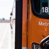 Metro Bus at Maintenance Yard