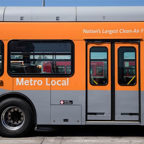 Metro Local Bus at Maintenance Yard